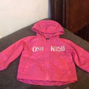 Pink osh kosh rain jacket